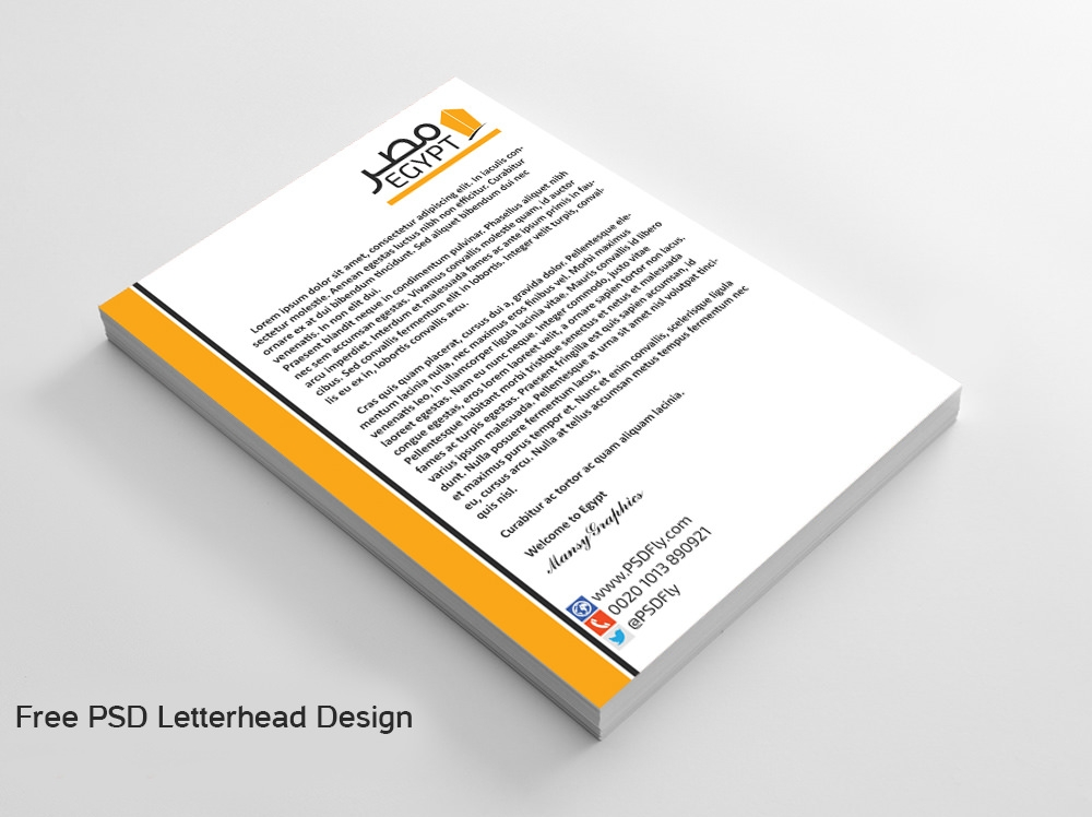 Company letterhead template free download