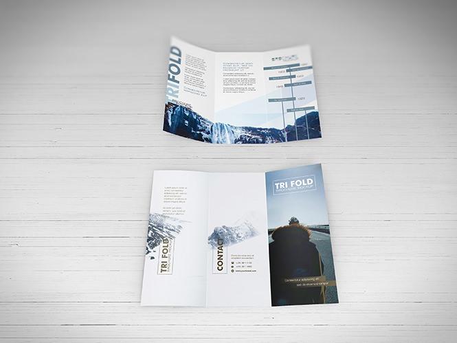 Free PSD Trifold Brochure mockup