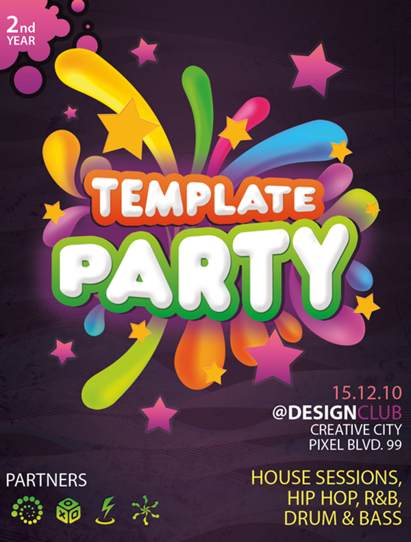 Free-PSD-template-party
