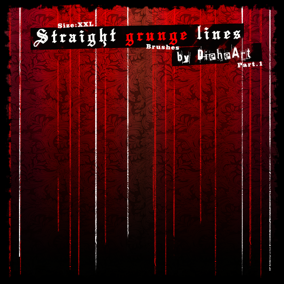 Free Straight Grunge Lines Brushes
