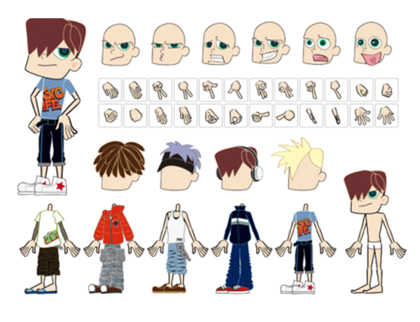 Free-Vector-Cute-Cartoon-boy-Characters