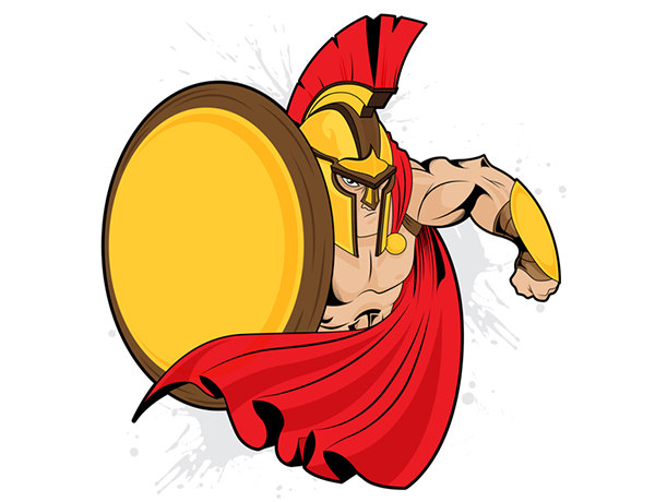 Free-Vector-Spartan-Warrior-Mascot