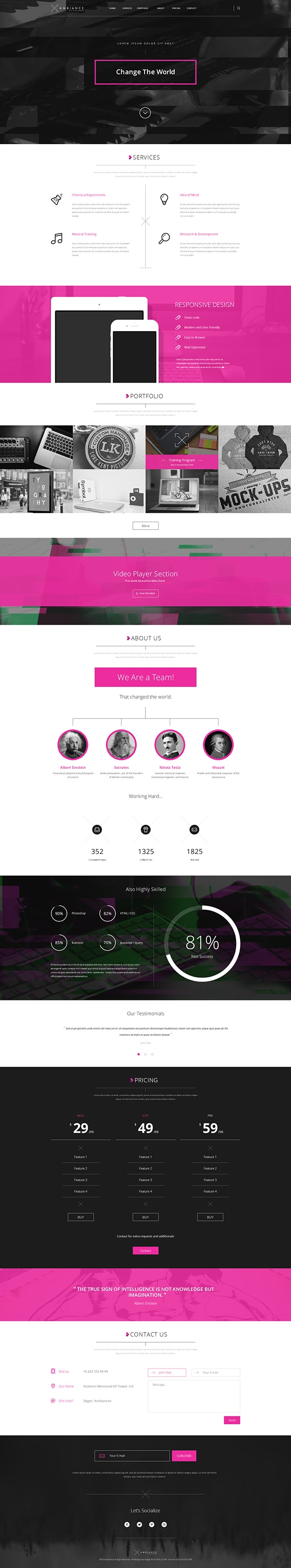 20 free portfolio psd website templates free premium for Free portfolio website templates