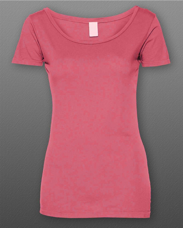 Free Women T-shirt mockup Scoop Style
