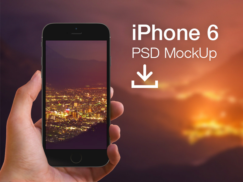 Free iPhone 6 Mockup Template9