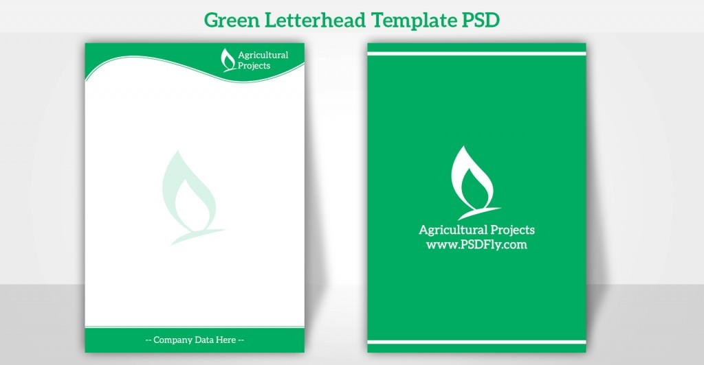 15 free vector psd company letter head design template free green letterhead template psd preview1 friedricerecipe Image collections
