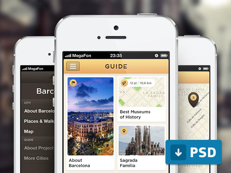 Guide App Free PSD
