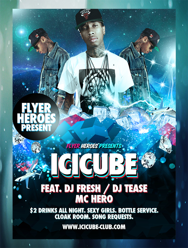 Icicube-PSD-Flyer-Template