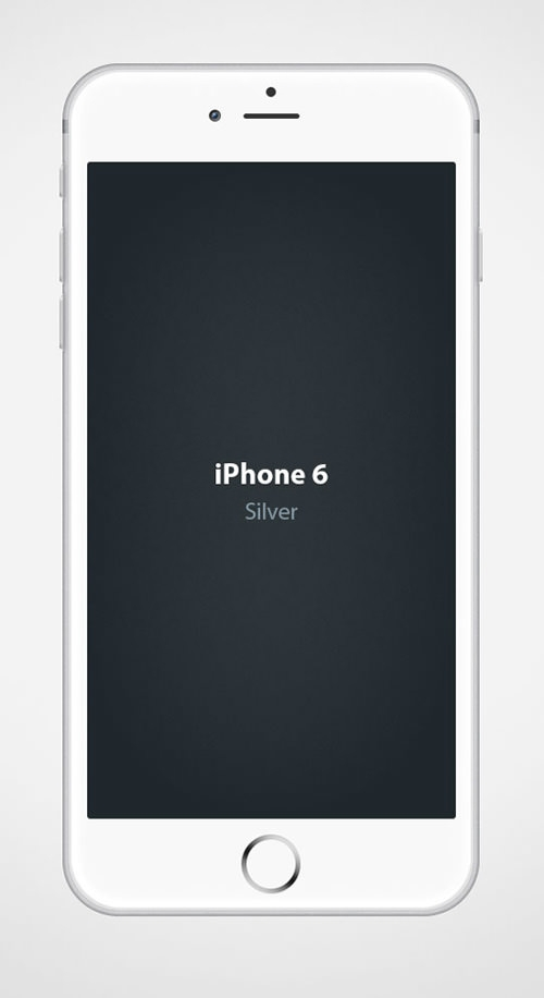 Iphone 6 Silver Mockup PSD