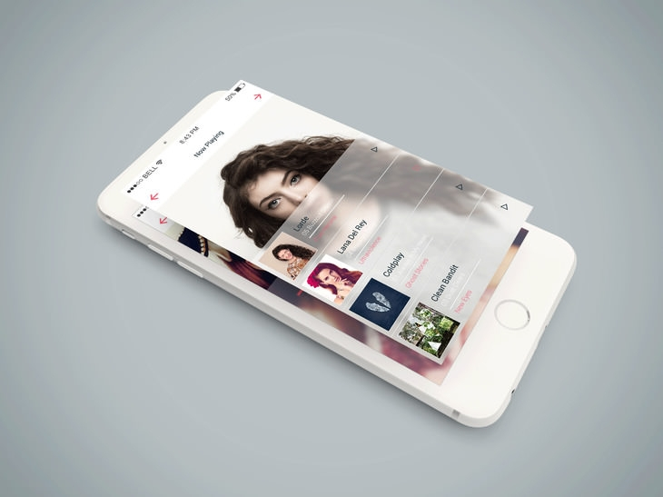 Isometric Free iPhone 6 PSD Mockup
