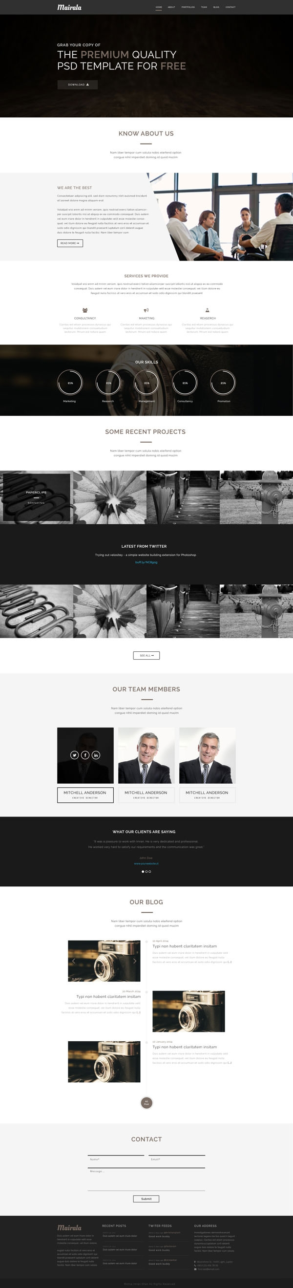 MAIRALA-–-Free-One-Page-Corporate-Agency-PSD-Template