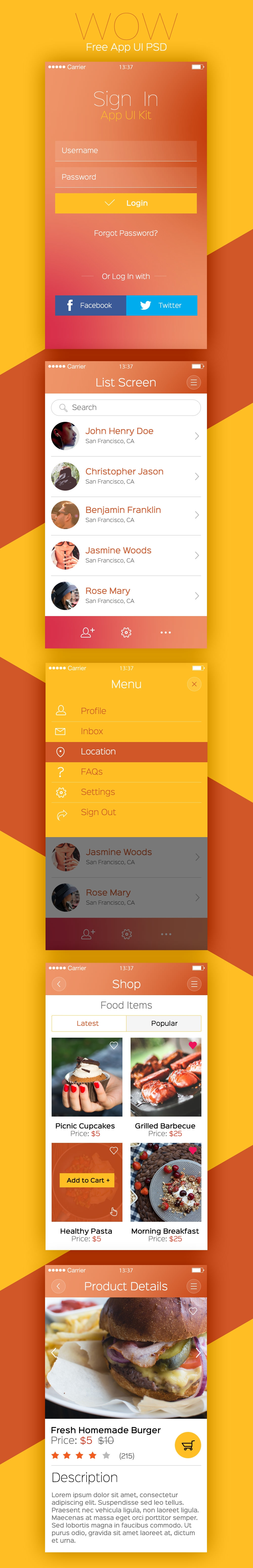Modern Recepies Mobile App UI