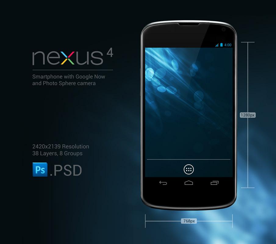 Nexus 4 PSD