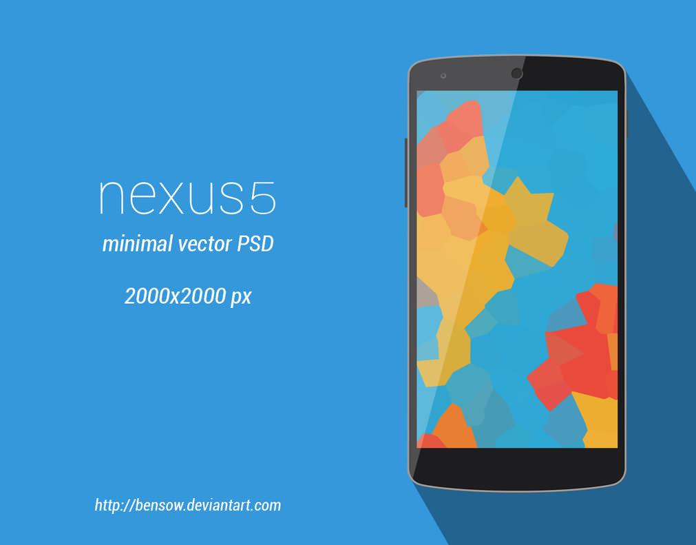 Nexus 5 Vector PSD Mockup