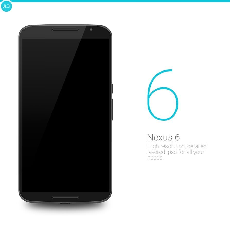 Nexus 6 free PSD download