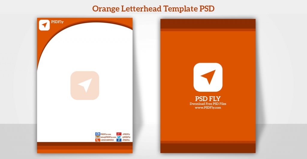 15 free vector psd company letter head design template free orange letterhead template psd preview spiritdancerdesigns Image collections