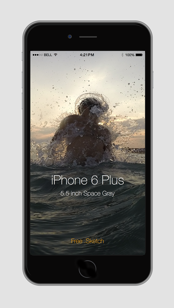 Phone 6 Plus mock up free .sketch