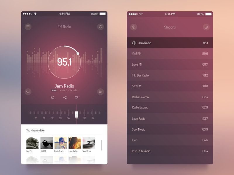 Radio UI app kit