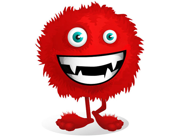 Red-Fluffy-Monster-Vector-Character
