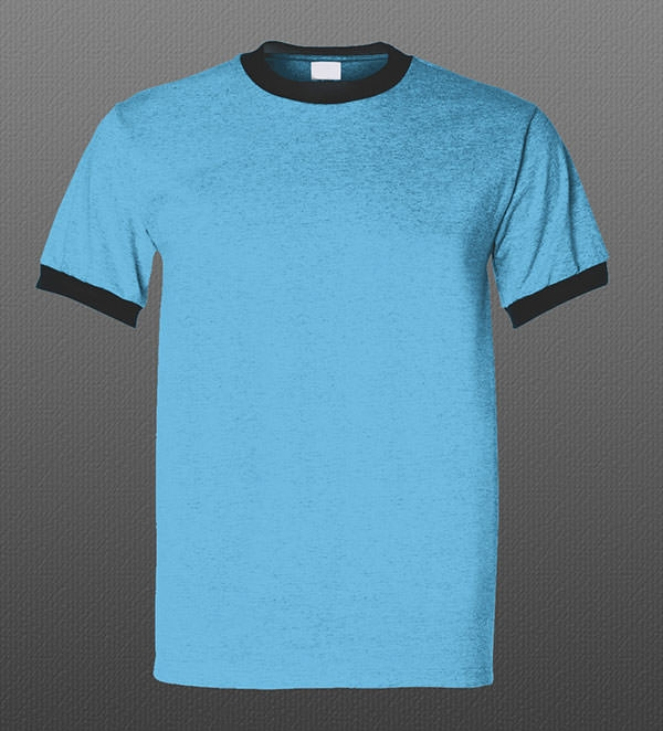Round Neck Free PSD Tshirt Mockup