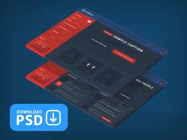 Sanction Dashboard UI Design PSD