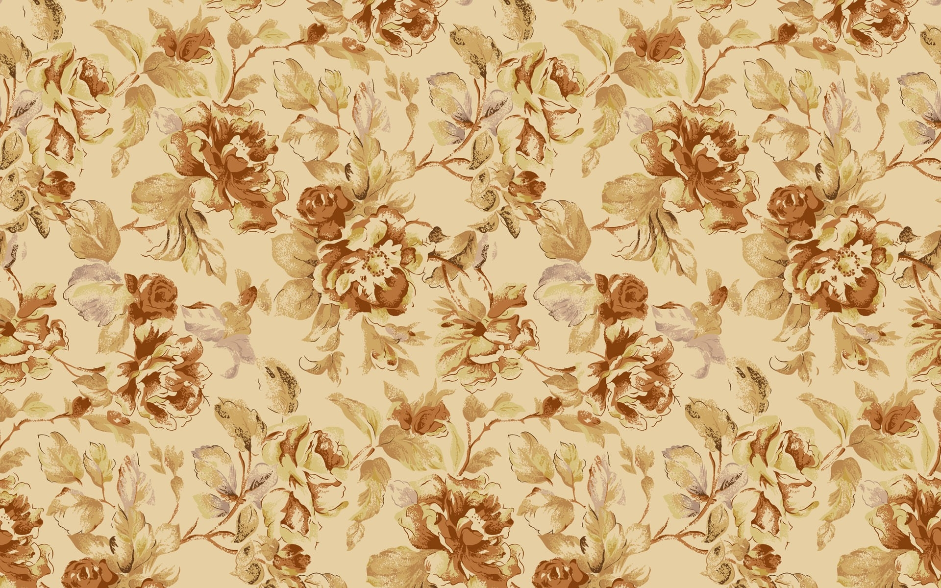 Simple Vintage Flowers background image
