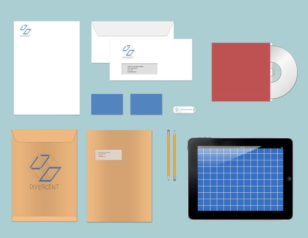 Stationary Branding Mock Up [Free PSD]