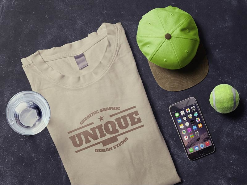 T-Shirt & iPhone Scene Mockup