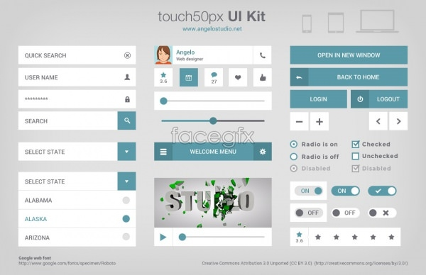 touch ui kit
