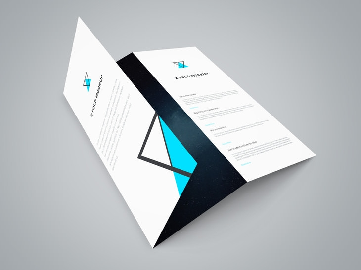 Trifolder Brochure Mockups PSD Vector EPS JPG Download - Photoshop tri fold brochure template free
