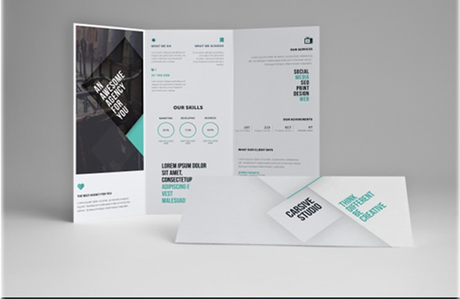 awesome tri fold brochure psd mockup