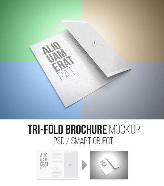 Trifold Brochure Mockup – Smart Psd