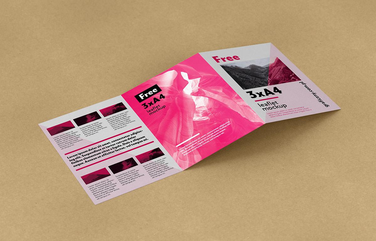 Trifold Leaflet Mockup