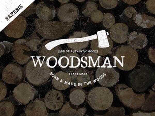 Vintage Woodsman Logo