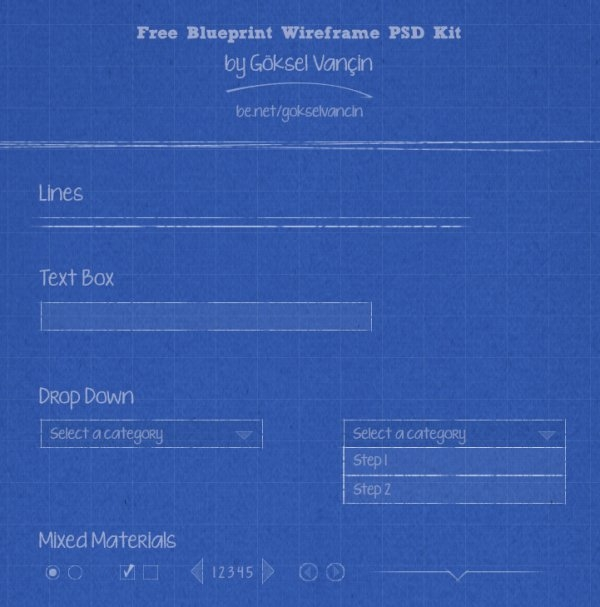 Website Free BluePrint/WireFrame Design