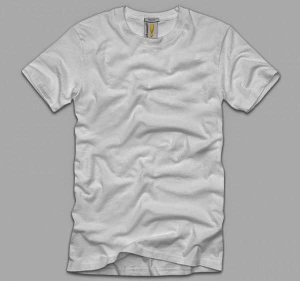 White blank T-shirt template psd