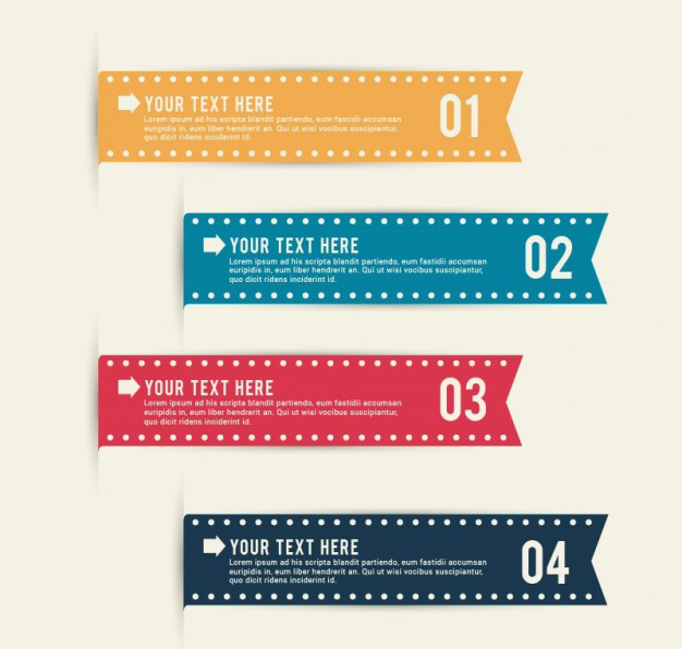 editable-infographic-ribbons