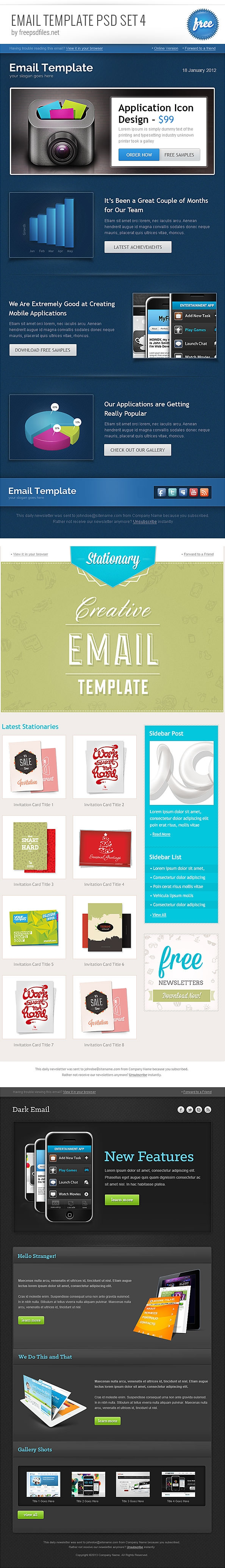 email-template-psd-set-4-