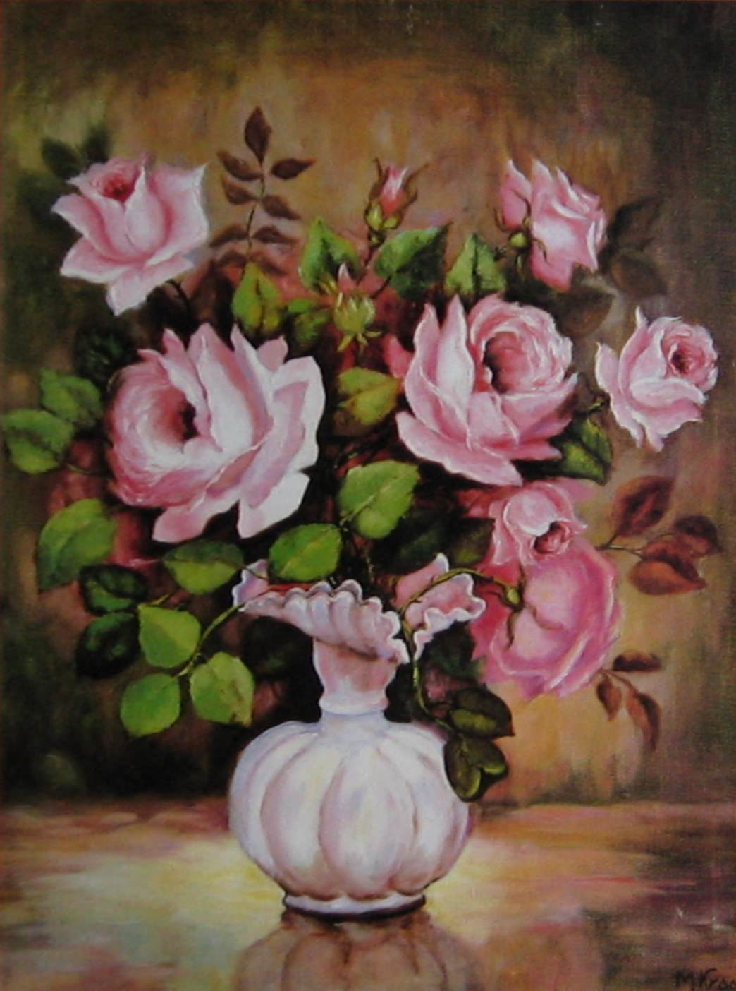 35 awesome flowers painting free premium creatives for Flower paintings on canvas