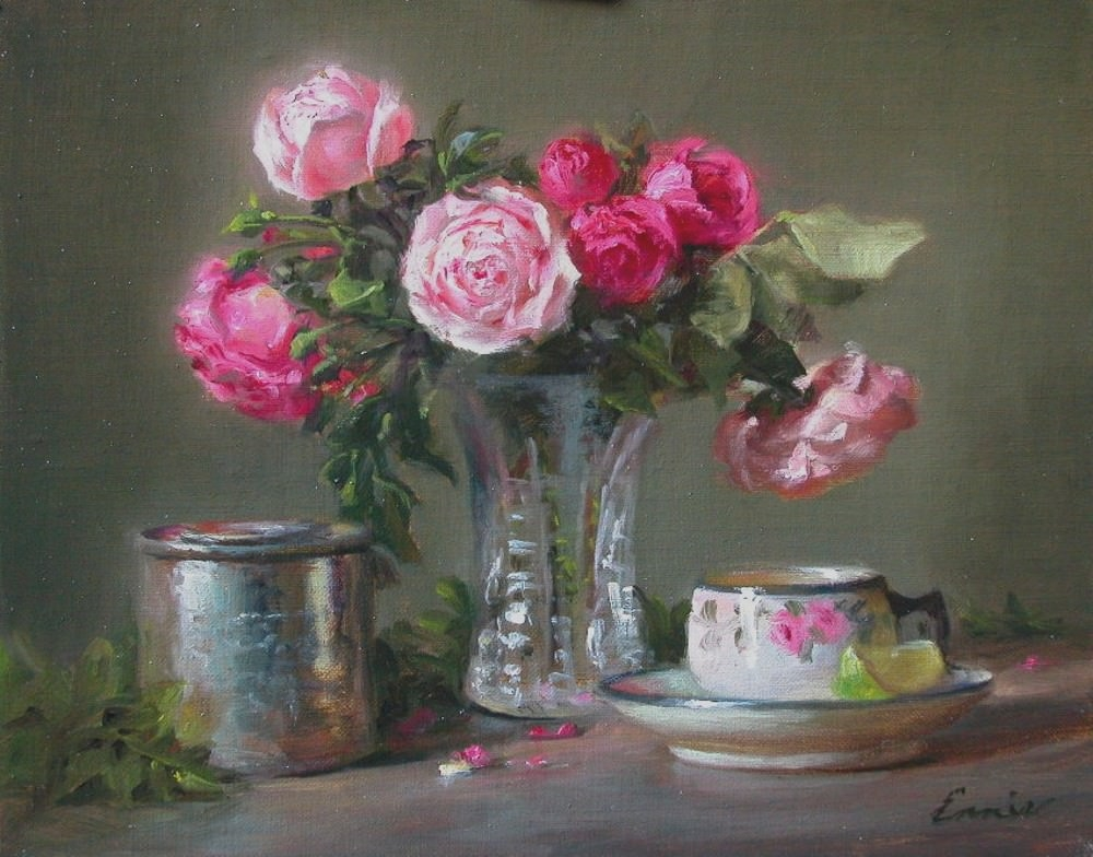 Pink Rose Paintings