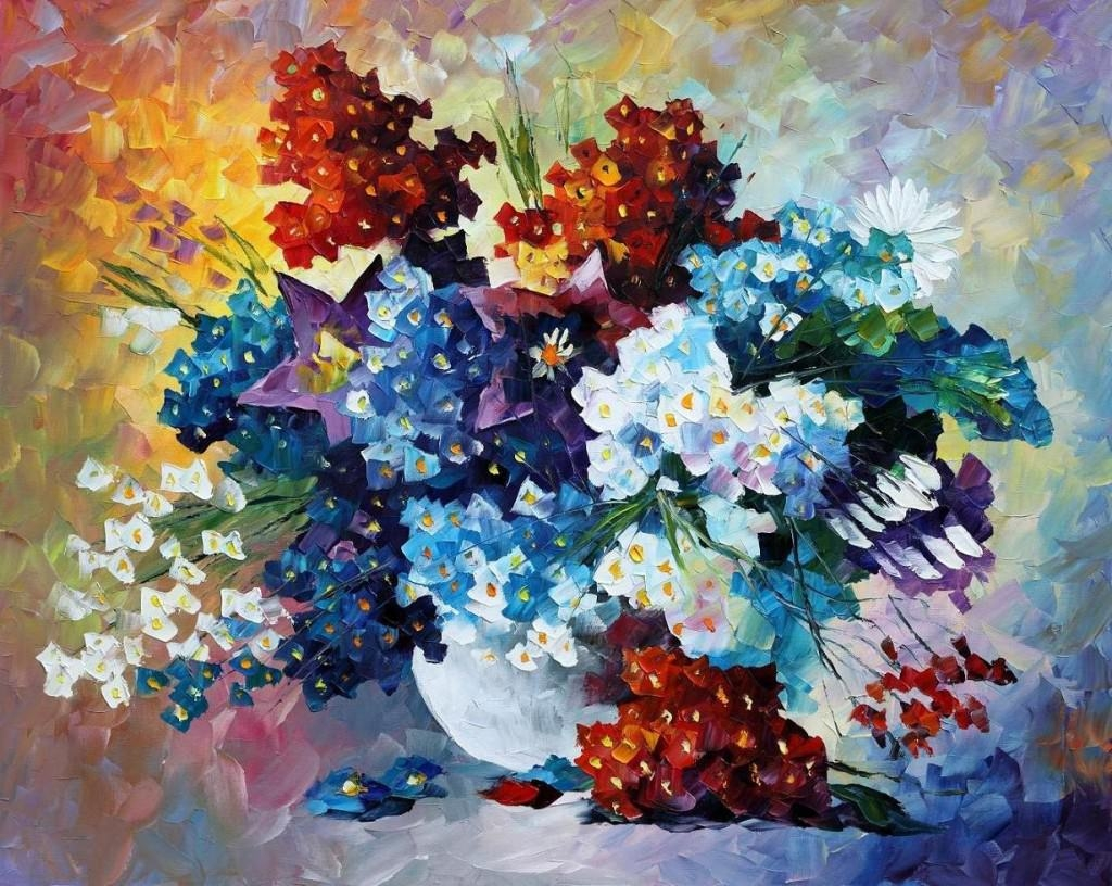 f39 colourfull flowers painting
