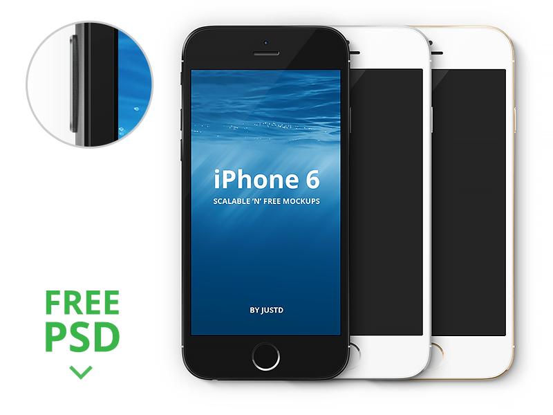 iPhone 6 – Scalable Mockups 4.7