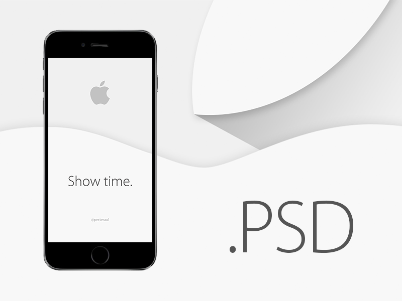 iPhone 6 Mock Up PSD