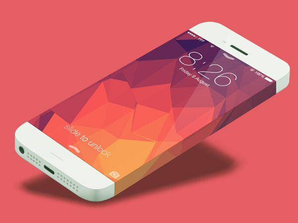 iphone 6 customizable layers mockup