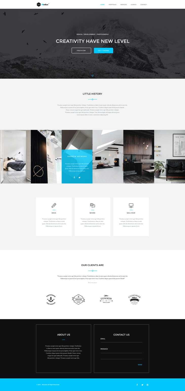 portfolio psd website templates premium creatives showcase portfolio