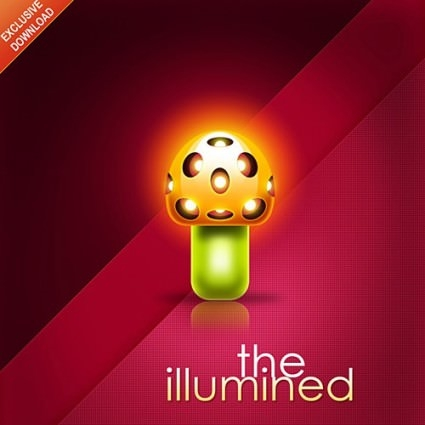 the illumined Mushroom Poster
