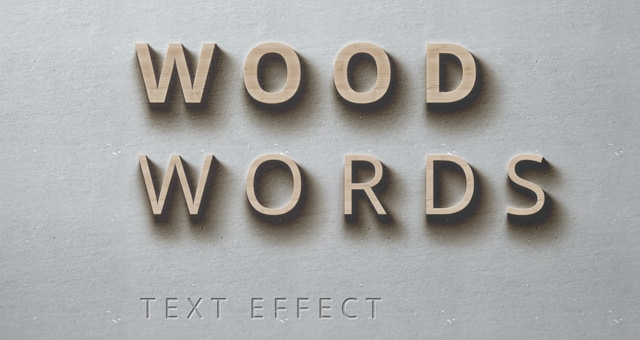 001-wood-words-text-effect-shadows-psd