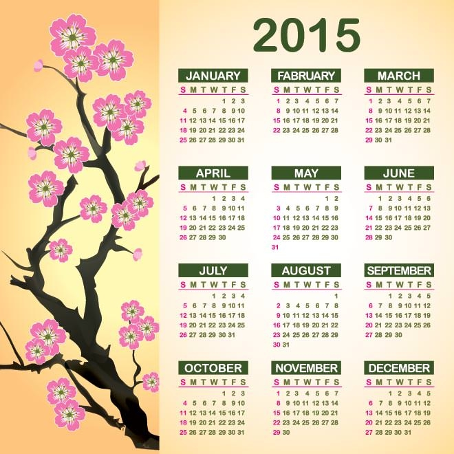 1008-2015-Vector-calendar-with-flower