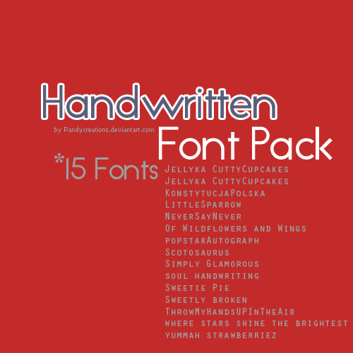 15_handwritten_fonts___font_pack_by_pandycreations-d4idx7g