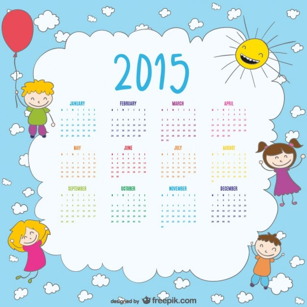 2015-calendar-of-happy-kids-drawing_23-2147496313